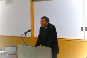 佐々木会長が激励の挨拶